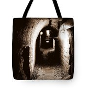 A Tunnel In The Catacombs Of Paris France Tote Bag