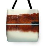 Amber Autumn Lake Tote Bag