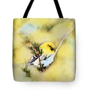 American Goldfinch - Digital Paint Tote Bag
