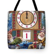 American New Years Card Tote Bag
