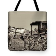 Amish Boy Tips Hat Tote Bag