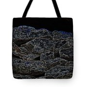 An Abstract View Of An Irish Dry Stone Wall Tote Bag