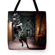 An Air Force Security Forces K-9 Tote Bag