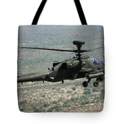 An Apache Ah64d Helicopter Tote Bag