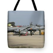 An Av-8b Harrier II Of The Spanish Navy Tote Bag