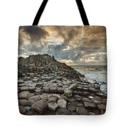 An Evening View Of The Giants Causeway Tote Bag