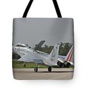 An F-15b Baz Of The Israeli Air Force Tote Bag