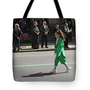 An Irish Lassie Marching In The 2009 St. Patrick Day Parade Tote Bag