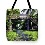 An Old Stone Bridge Over A Canal Tote Bag