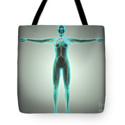 Anatomy Of Female Body With Arteries Tote Bag