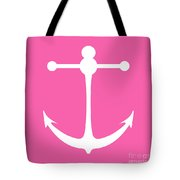 Anchor In Pink And White Tote Bag