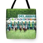 And They're Off Tote Bag