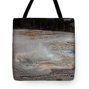 Anemone Geyser In Upper Geyser Basin Tote Bag
