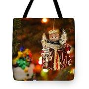 Angel Christmas Ornament Tote Bag