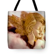 Angel Resting On Clouds And Enjoying The Sun Tote Bag