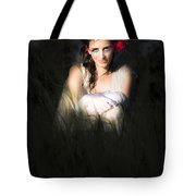Angel Sitting In The Darkness Tote Bag