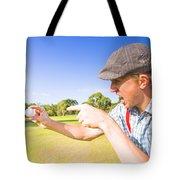 Angry Golf Tote Bag