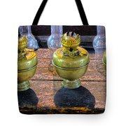 Antique Kerosene Lamps Tote Bag