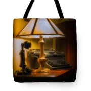 Antique Lamp Typewriter And Phone Tote Bag