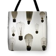 Antique Light Bulbs Tote Bag
