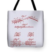 Antique Safety Razor Patent 1912 Tote Bag