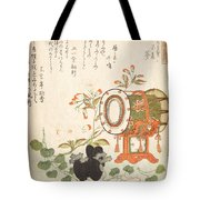 Aoi Plant Cherry Blossoms Drum And Eboshi Hat  Tote Bag