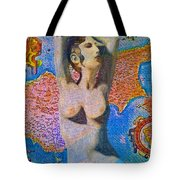 Aphrodite And Ancient Cyprus Map Tote Bag