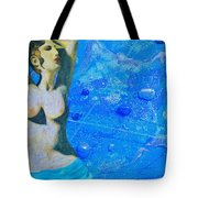 Aphrodite And  Cyprus Map Tote Bag