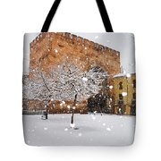Arc Of Elvira While A Snowstorm Tote Bag