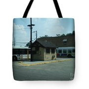 Archer/neva Cta Bus Terminal Tote Bag