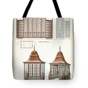 Architecture In Wood, C.1900 Tote Bag