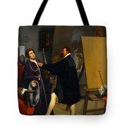 Aretino In The Studio Of Tintoretto Tote Bag