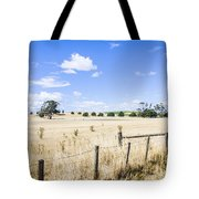 Arid Agricultural Landscape In South Tasmania Tote Bag
