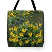 Arrowleaf Balsamroot And Lupine Tote Bag