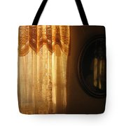Art Homage Edward Hopper Winter Light Window Curtain Reflection Bedroom Casa Grande Arizona 2005 Tote Bag