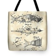 Artificial Bait Patent 1923 - Vintage Tote Bag