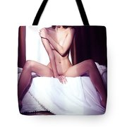 Artistic Portrait Of Beautiful Naked Asian Woman Sitting Naked O Tote Bag