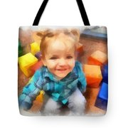 Ashby And Her Blocks Tote Bag