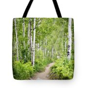 Aspen Path Impasto Tote Bag