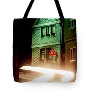 At Night In Thuringia Village Germay Tote Bag