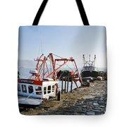 At The Cobb -- Lyme Regis Tote Bag