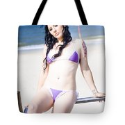 Attractive Girl On The Beach Tote Bag