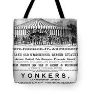 Auction Advertisement Tote Bag
