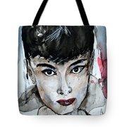 Audrey Hepburn - Abstract Art Tote Bag