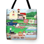 Aunt Abby's Apples Tote Bag