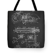 Automatic Motorcycle Stand Retractor Patent Drawing From 1940 Tote Bag by Aged Pixel