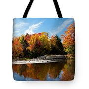 Autumn At The Lock And Dam Tote Bag