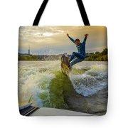 Autumn Wake Surfing Tote Bag