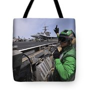 Aviation Boatswain's Mate Signals Tote Bag by Stocktrek Images