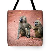 Baboons In African Bush Tote Bag